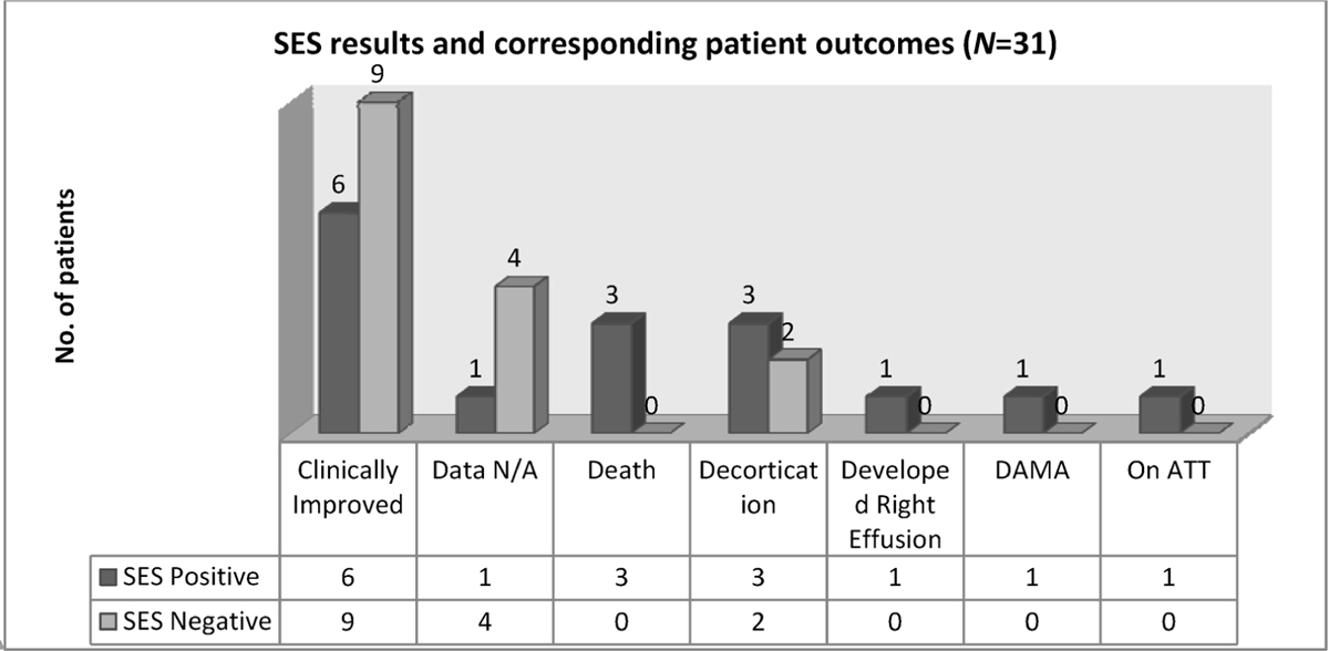 Figure 3 SES results and corresponding patient outcomes
